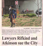 Lawyers Rifkind and Atkinson sue the City over Charter breach - Maria Sarrouh, Staff Reporter, Toronto Star, May 22, 2021